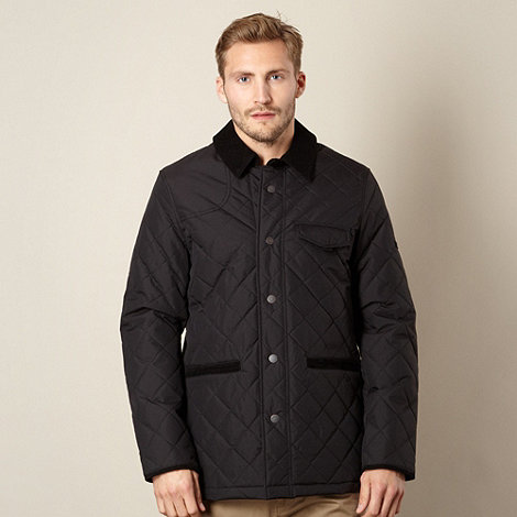 Ben Sherman - Black quilted cord collar jacket