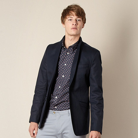 Ben Sherman - Big and tall navy twill blazer
