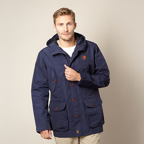 Fred Perry - Navy button through parka jacket