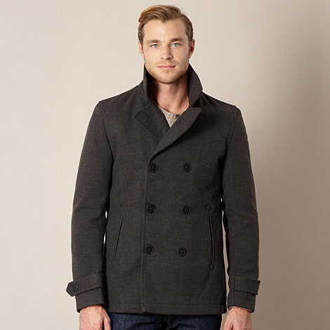 Stanley - Grey double breasted coat