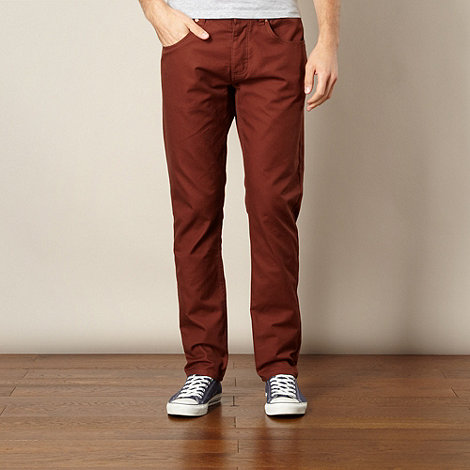 Farah 1920 - Brown twill casual trousers