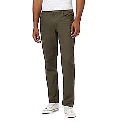 Ben Sherman - Big and tall khaki corduroy bedford trousers