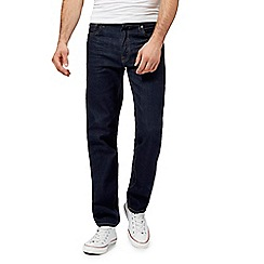 Ben Sherman - Big and tall dark blue raw straight leg jeans