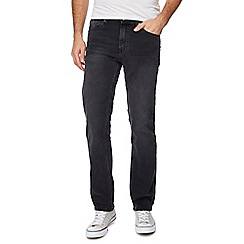 Ben Sherman - Big and tall black washed straight leg jeans