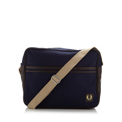 Fred Perry - Navy canvas shoulder bag