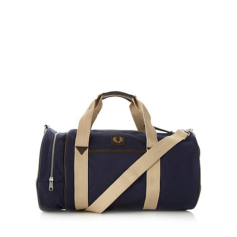 Fred Perry - Navy barrel bag