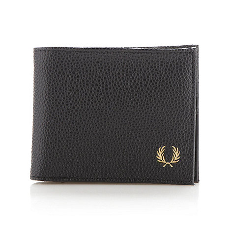 Fred Perry - Black grained billfold wallet
