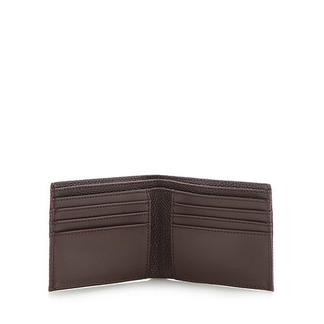 Fred Perry - Chocolate grained billfold wallet