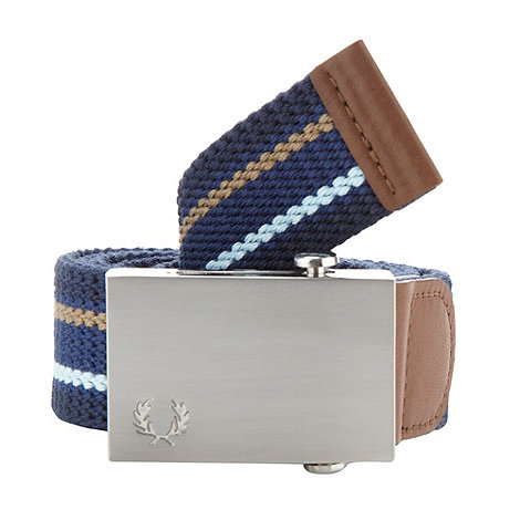 Fred Perry - Blue striped canvas belt