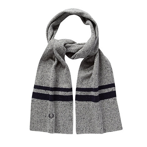 Fred Perry - Grey double tipped scarf