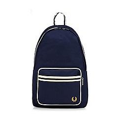 Fred Perry - Navy and white stripe backpack