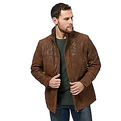 Barneys - Big and tall brown leather jacket