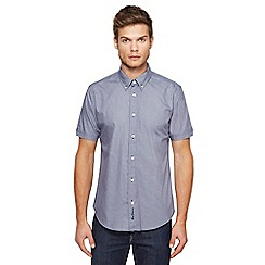 Ben Sherman - Big and tall navy mini textured patterned shirt