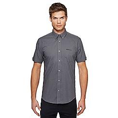 Ben Sherman - Big and tall grey basket weave print shirt