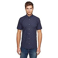 Ben Sherman - Big and tall navy printed shirt