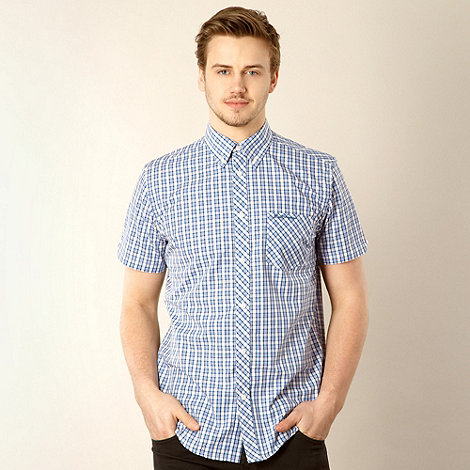 Ben Sherman - Dark blue checked button down shirt