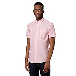 Ben Sherman - Big and tall pink oxford plain shirt