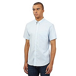 BEN SHERMAN - Big and tall light blue plain oxford shirt