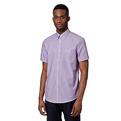 Ben Sherman - Big and tall purple oxford plain shirt