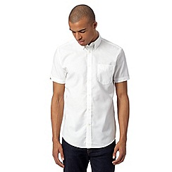 Ben Sherman - White plain oxford shirt