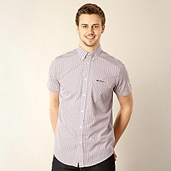 Ben Sherman - Dark pink mini gingham shirt