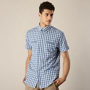 Blue small checked shirt