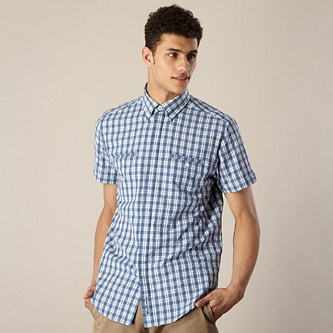 Ben Sherman - Big and tall blue small checked shirt