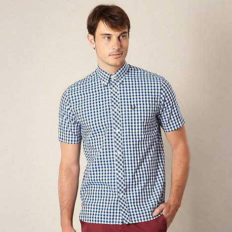 Fred Perry - Navy large gingham shirt