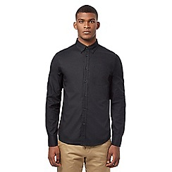 Ben Sherman - Big and tall black oxford long sleeved shirt