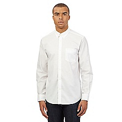 Ben Sherman - Big and tall white plain oxford shirt