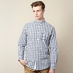 Ben Sherman - Navy varied check shirt