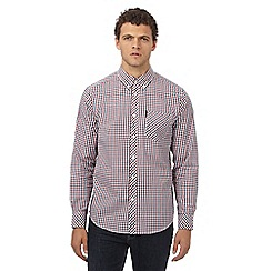 Ben Sherman - Big and tall red checked regular fit shirt