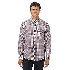 Ben Sherman - Red checked regular fit shirt
