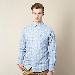 Ben Sherman - Light blue checked button down collar shirt