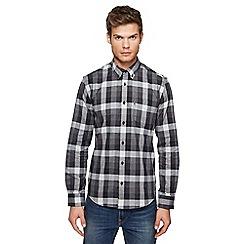Ben Sherman - Big and tall grey checked shirt