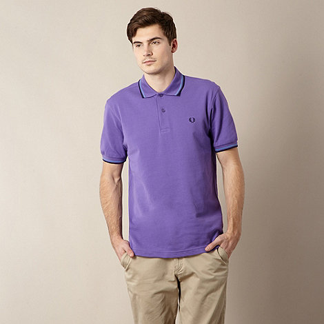 Fred Perry - Purple twin tipped pique polo shirt