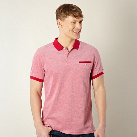 Ben Sherman - Red oxford polo shirt