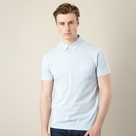 Ben Sherman - Light blue multi striped polo shirt