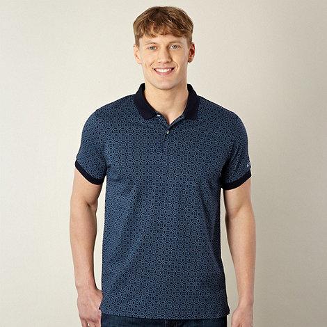 Ben Sherman - Navy kaleidoscope printed polo shirt