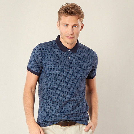 Ben Sherman - Navy circle print polo shirt