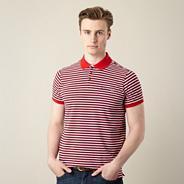 Debenhams exclusive big and tall red pique striped polo shirt