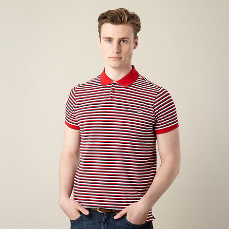 Ben Sherman - Debenhams exclusive red pique striped polo shirt