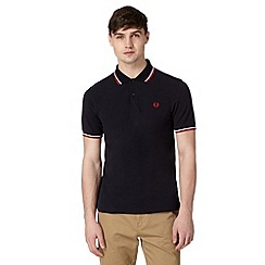 Fred Perry - Navy twin tipped regular fit polo shirt