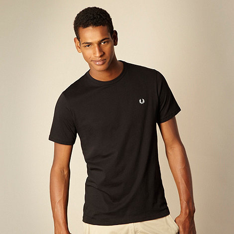 Fred Perry - Black plain crew neck regular fit t-shirt