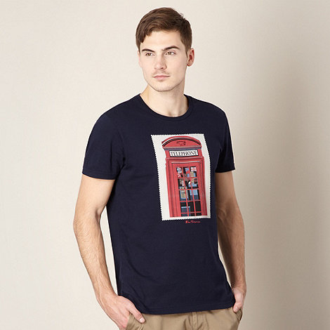 Ben Sherman - Navy telephone box print t-shirt