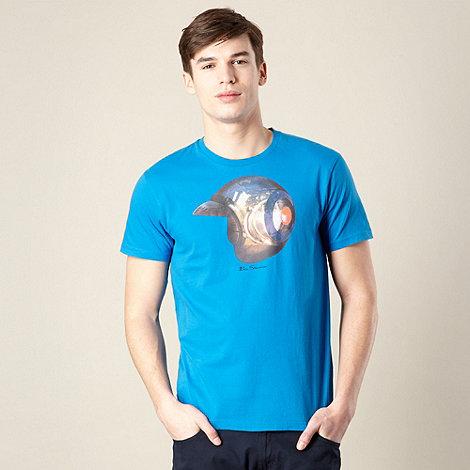 Ben Sherman - Blue mod helmet print t-shirt