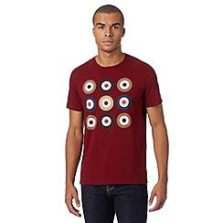 Ben Sherman - Wine target printed t-shirt