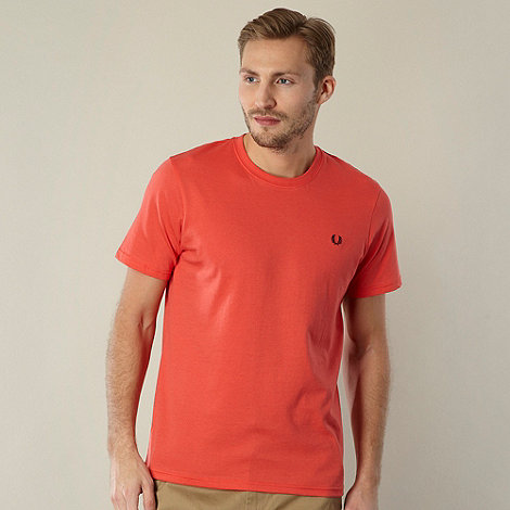 Fred Perry - Red plain crew neck regular fit t-shirt