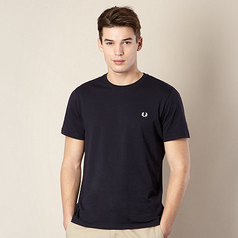 Fred Perry - Navy plain crew neck regular fit t-shirt