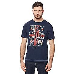 Ben Sherman - Big and tall navy printed t-shirt